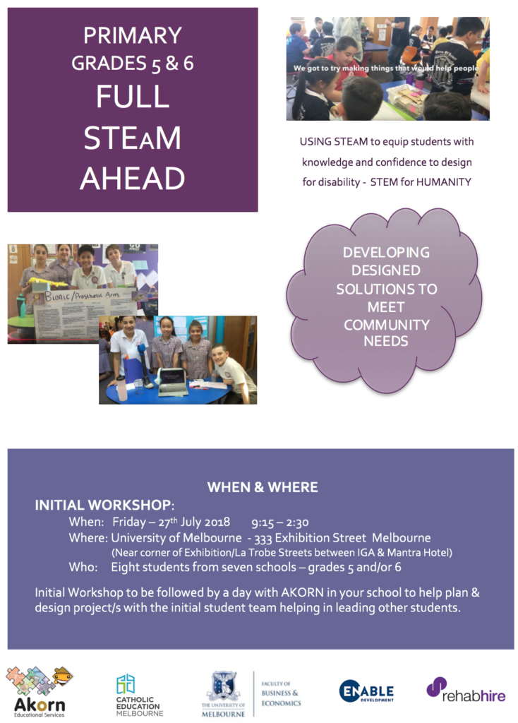 PRIMARY FULL STEAM AHEAD - AKORN EDUCATIONAL ENGINEERING PROGRAM CEM